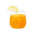 fresh fruit cocktail on white background vector image