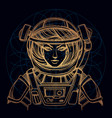 girl in a spacesuit for t-shirt design or print vector image vector image