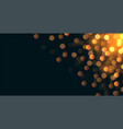 glitterbokeh background with text space area vector image vector image