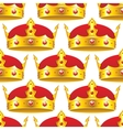 Golden crown in seamless pattern vector image vector image