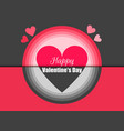 happy valentines day holiday card with hearts vector image vector image