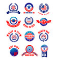 icons set of made in usa quality vector image