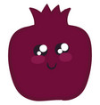 image cute pomegranate or color vector image