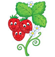 image with strawberry theme 1 vector image vector image