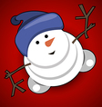 Jolly Snowman vector image vector image