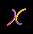 letter abstract letter blend line logo symbol vector image vector image