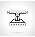 Longboard repair black line icon vector image vector image