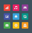Material design style icons sign and symbols vector image vector image