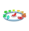 Measuring device with scale icon cartoon style vector image