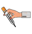 medical thermometer tool vector image