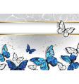 Narrow Banner with Butterflies Morpho vector image vector image