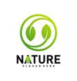 nature leaf green logo design concepts vector image