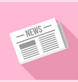 newspaper icon flat style vector image