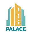 palace hotel building flat icon for real vector image vector image