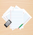 Paper on table vector image vector image