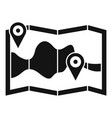 paper pin map route icon simple style vector image vector image