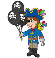 pirate boy with balloons vector image