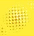 pop art background yellow brown and orange vector image vector image