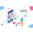 promotion search engine optimization vector image vector image