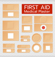 realistic medical plasters set vector image vector image
