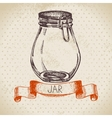 Rustic mason and canning jar Vintage hand drawn vector image vector image