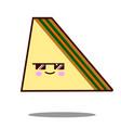 sandwich cartoon character icon kawaii fast food vector image vector image