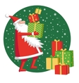 Santa Claus with gift boxes vector image vector image