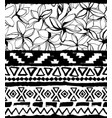 seamless geometric pattern ethnic aztec tropical vector image vector image