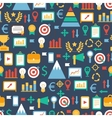 Seamless pattern of flat colorful business and vector image vector image
