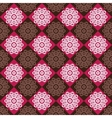 Seamless pattern of red and brown rhombuses vector image vector image