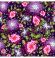 Seamless pattern of small bouquets pink and blue vector image vector image