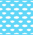 seamless pattern with blue sky and white clouds vector image