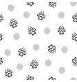 seamless pattern with traces dogs vector image