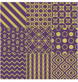 seamless purple gold pattern vector image vector image