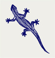 Silhouette of a gecko vector image