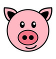simple cartoon a cute pig vector image vector image