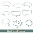 sketch speech bubbles set EPS10 vector image vector image