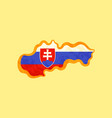 slovakia - map colored with slovak flag vector image vector image