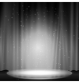 Stage with spotlight vector image vector image