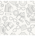 Summer accessories background sketch vector | Price: 1 Credit (USD $1)