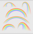 summer realistic rainbow arches isolated vector image vector image