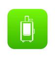 travel suitcase icon digital green vector image