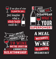 wine quote and saying 100 best for graphic vector image vector image