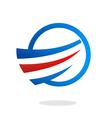air flow swirl business logo vector image