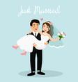 wedding couple bride and vector image