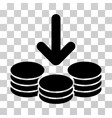 income coins icon vector image