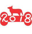 red bone 2018 dog year background vector image