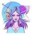 girl symbolizes the zodiac sign aquarius pastel