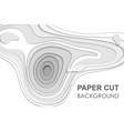 3d papercut banner of gradient white paper layers vector image