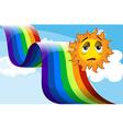 A rainbow beside the sad sun vector image vector image